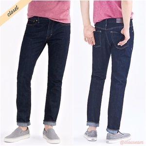 [J. Crew Factory] Men's Driggs Slim-Fit Dark Jeans